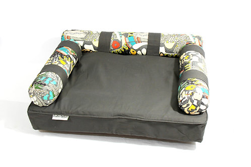 Eco dog couch with 3 Aussy Wildlifebolsters - LARGE