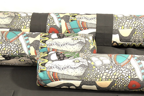 Aussie Wildlife Bolster cushion COVERS for Eco Dog Couch