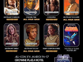 All-Con Dallas - 2019 - Classic Battlestar Galactica Cast Member Small Reunion