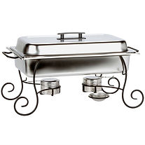 8 quart chafer with Wrought iron base.jp