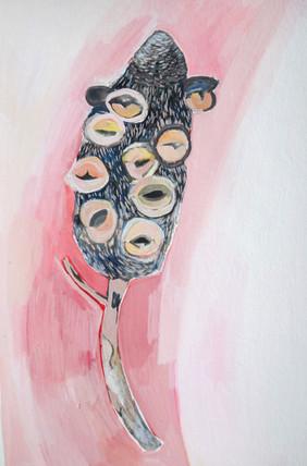 Kalang, Gauge on paper, 21 x 29.7 cm, 2020