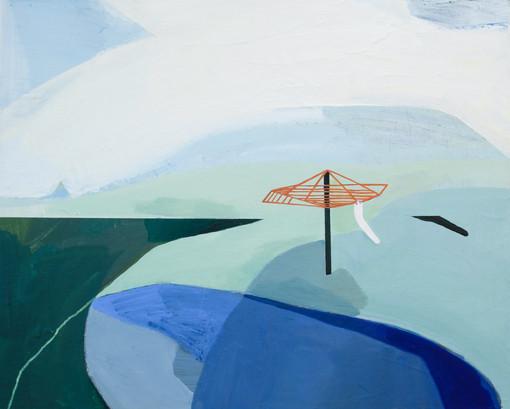 Lisa Carrett, Washing the Whites, acrylic on board, 40x50cm, 2021