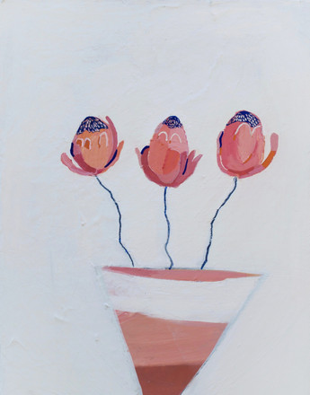 Little potted plant, 35 x 45cm, acrylic on canvas, 2020