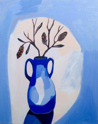 Lisa Carrett, Quiet moments, acrylic on canvas, 41x51cm, 2021