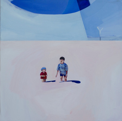 Lisa Carrett, Day at the Lake, acrylic on canvas, 60x60cm, 2021