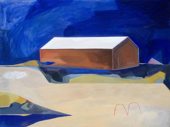Lisa Carrett, The Farm, oil on canvas, 61x44cm, 2021