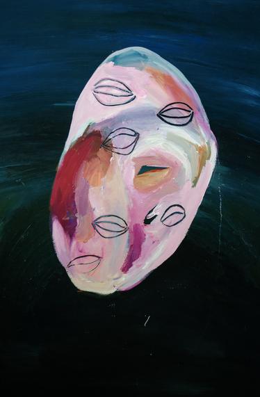 Intermediate, acrylic on wooden panel, 89.7 x 120 cm, UNSW Galleries, 2018