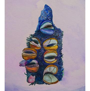 Banskia Study II, watercolour and digital print, 2019