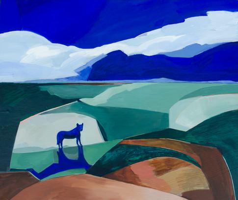 Lisa Carrett, Benny, acrylic on canvas, 51x61cm, 2021