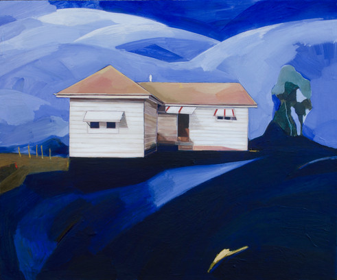 Lisa Carrett, A house I used to know, acrylic and oil on canvas, 51x61cm, 2021