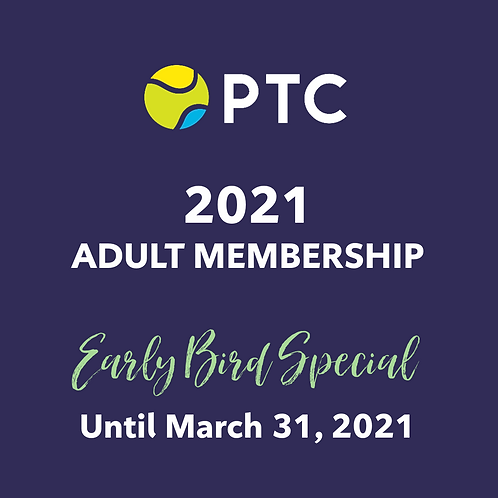 2021 PTC Adult Membership ** Early Bird Special **