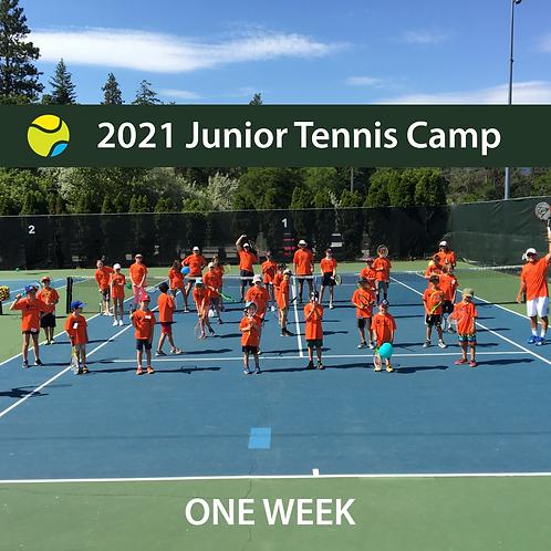 2021 Junior Summer Tennis Camp - 1 Week
