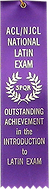 acl njcl national latin exam ribbon
