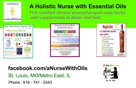 A Holistic Nurse With Oils & Herbs