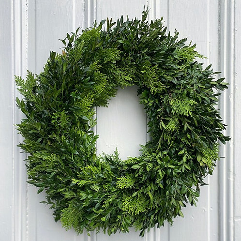 Boxwood & Cedar Wreath