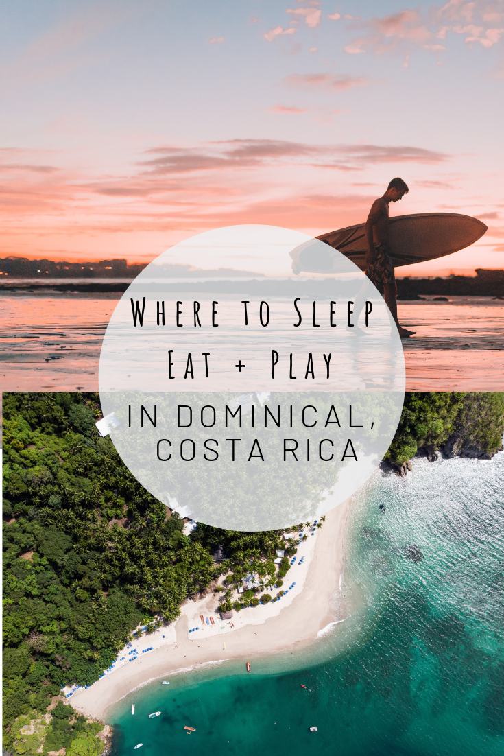 Pinterest image for Where to Sleep + Eat + Play in Dominical, Costa Rica