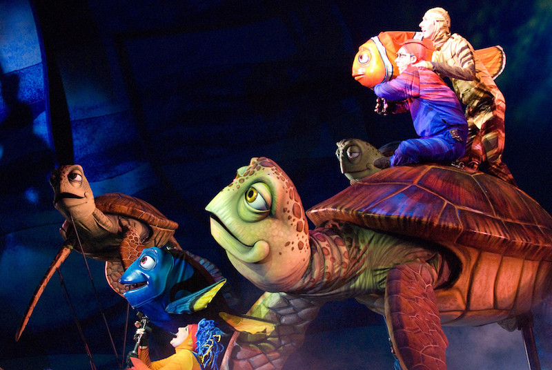 Scene from Finding Nemo the Musical at Disney World