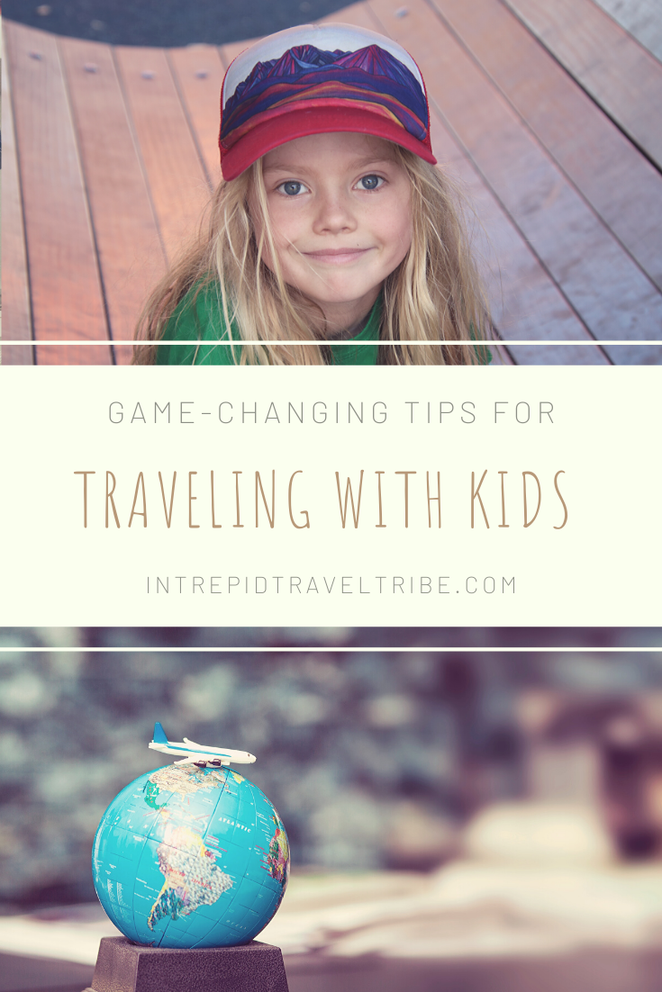 Pinterest image for tips for traveling with kids.