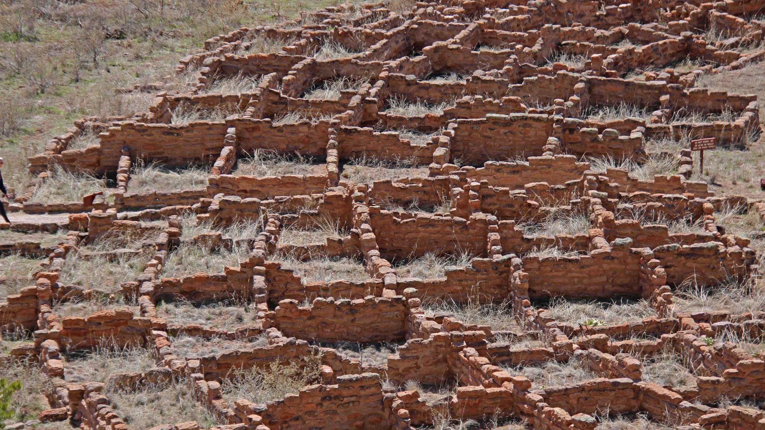 Pueblo ruins at Bandelier National Monument