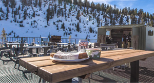 The Outpost ski lodge on back side of Mammoth Mountain
