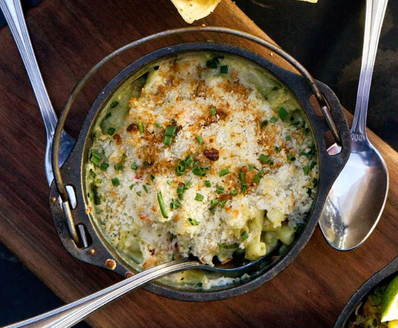 Gourmet mac and cheese at Roaring Fork in Austin.