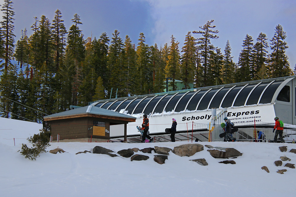 Schoolyard Express lift at Mammoth