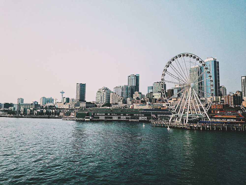 The Seattle Great Wheel in Seattle's Waterfront District.