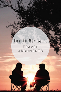 Pinterest image for how to minimize travel arguments