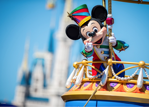 Mickey Mouse in a Disney World parade