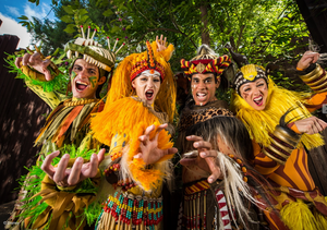 Four characters from Festival of the Lion King