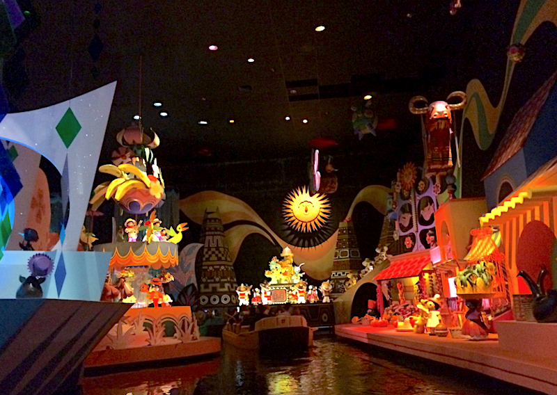 Interior of It's a Small World ride at Disney World