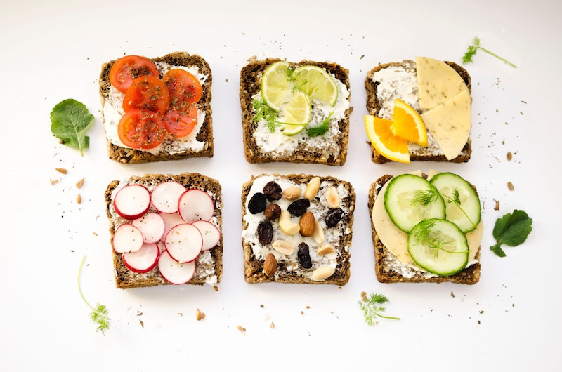 Healthy open faced sandwiches being packed for a Disney amusement park adventure
