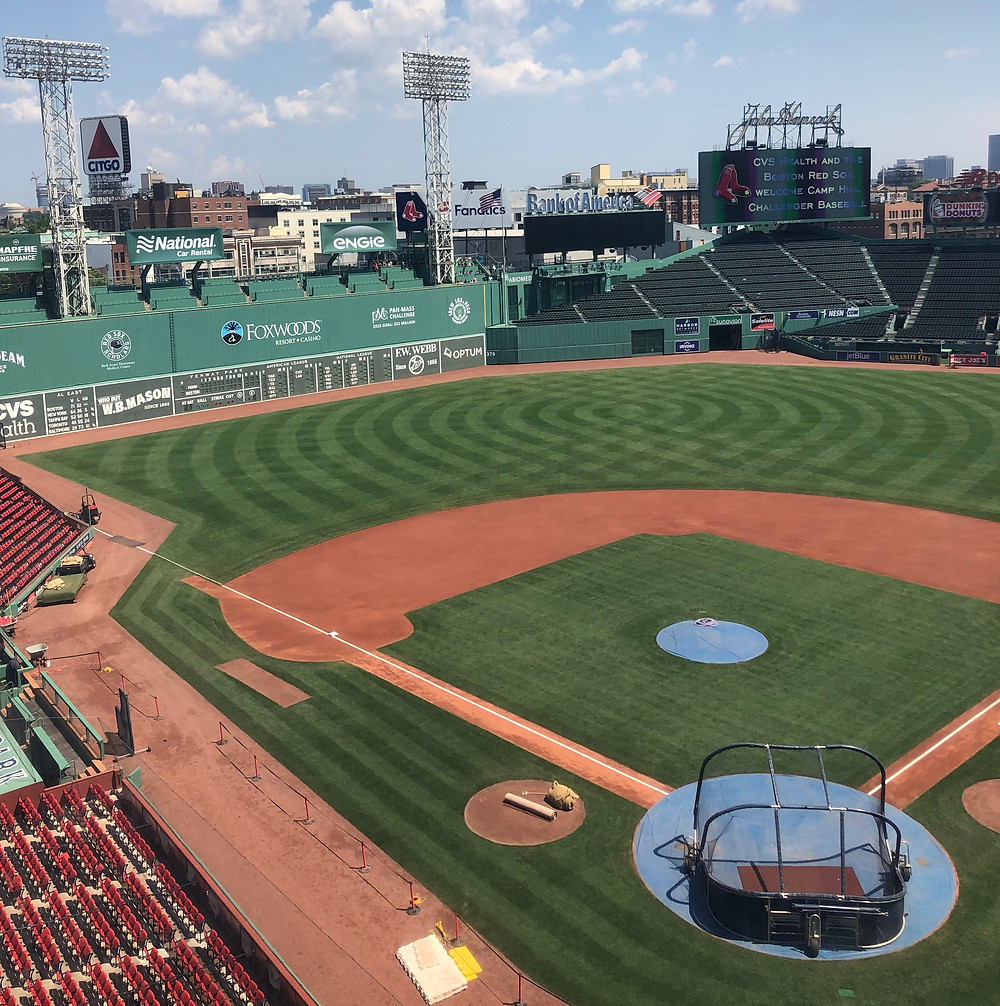 Fenway Park baseball diamond