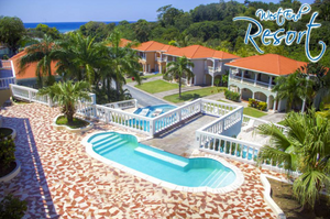 The pool at West End Resort in Roatan's Sunset Villas.
