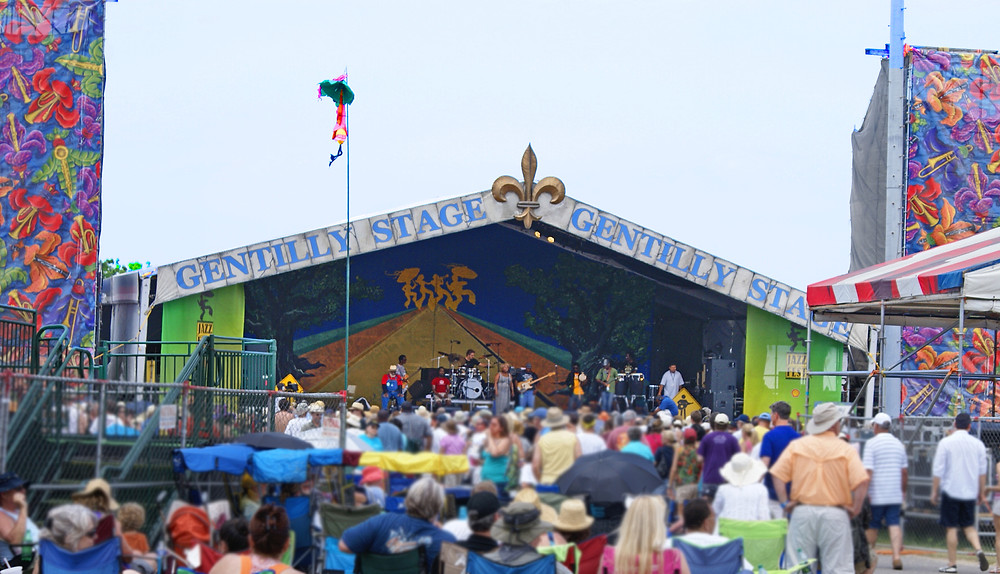Crowd in front of Gentilly Fest stage in New Orleans
