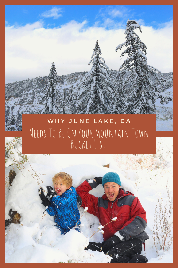 Pinterest image of Why June Lake Needs To Be On Your Mountain Town Bucket List