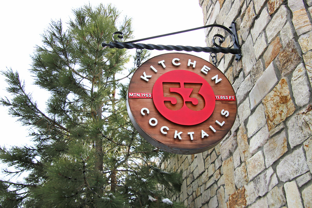 53 Kitchen and Cocktails date night restaurant in The Village at Mammoth Lakes, California