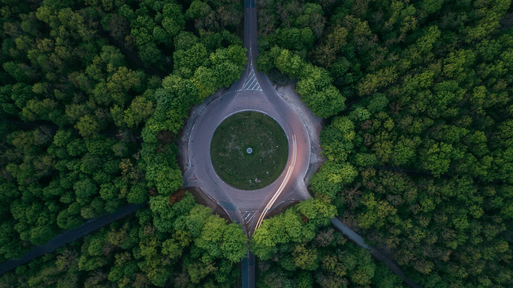 Roundabout in Australia