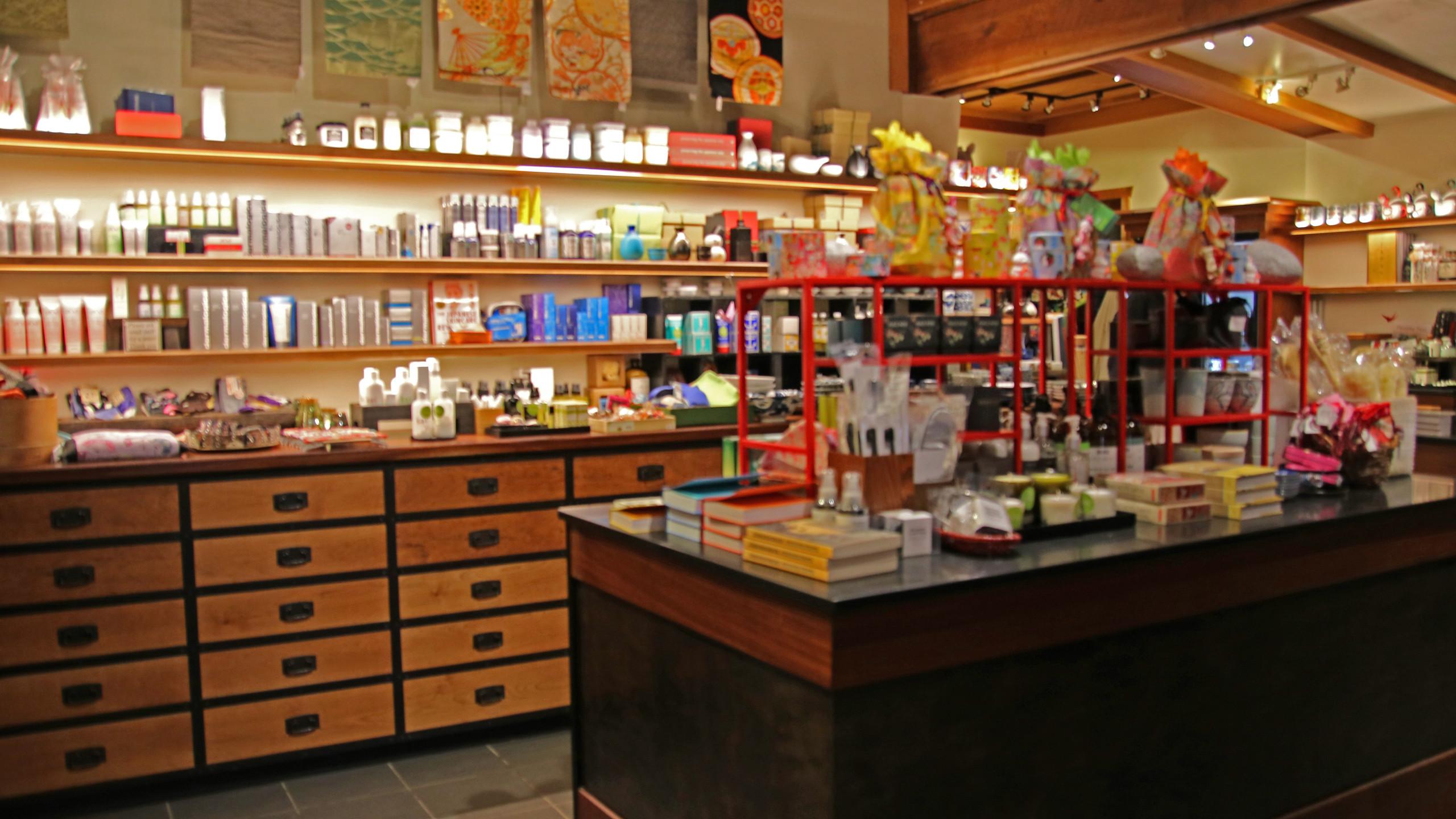 Gift shop at Ten Thousand Waves spa