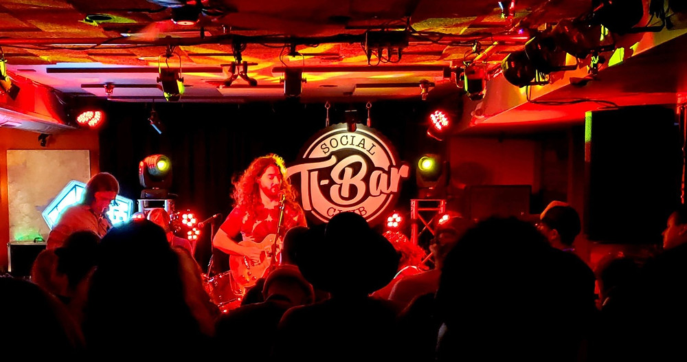 Interior of T-Bar Social Club before a show.