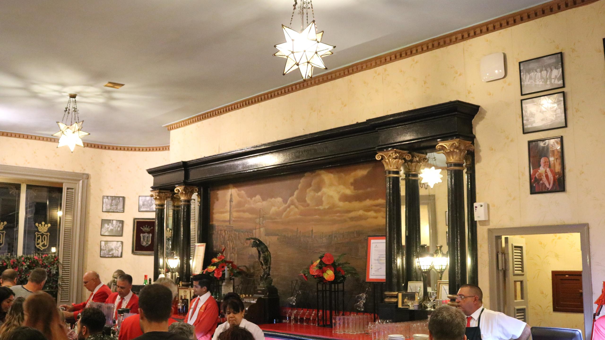 Bar in El Floridita in Havana, Cuba.