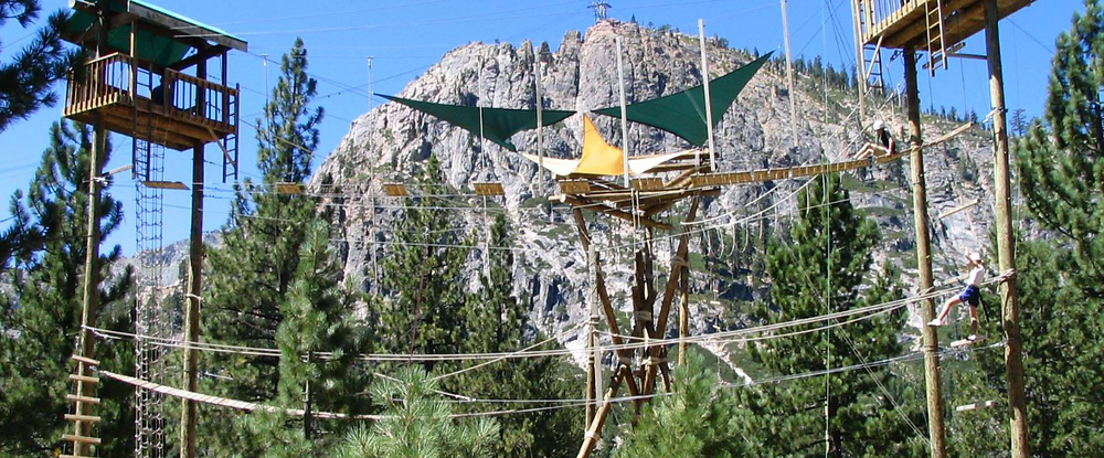 Ropes course for families in Lake Tahoe