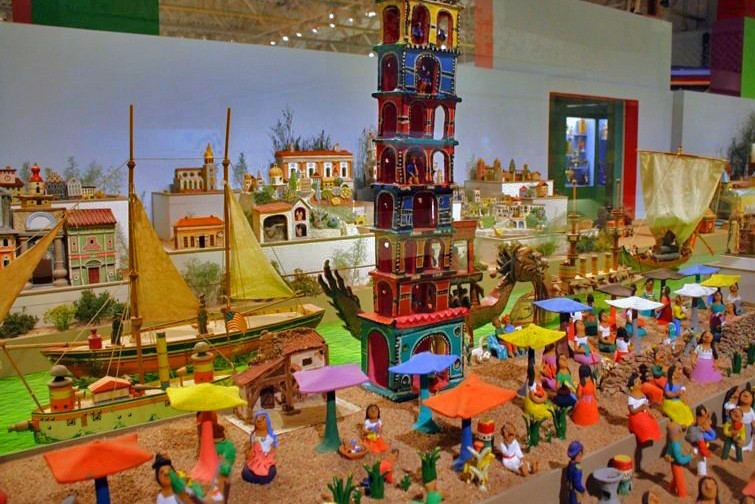 Colorful diorama at the Museum of International Folk Art in Santa Fe, New Mexico