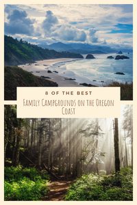 Pinterest image for 8 of the Best Family Campgrounds on the Oregon Coast