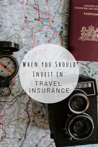 Pinterest image for when you should invest in travel insurance
