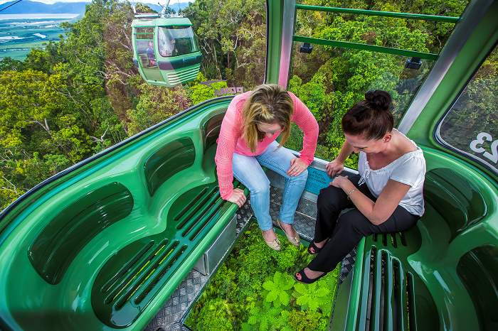 Diamond View gondola at Skyrail Rainforest Cableway in Cairns Australia