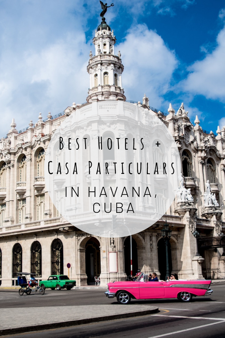 Pinterest image of Best Hotels + Casa Particulars in Havana, Cuba