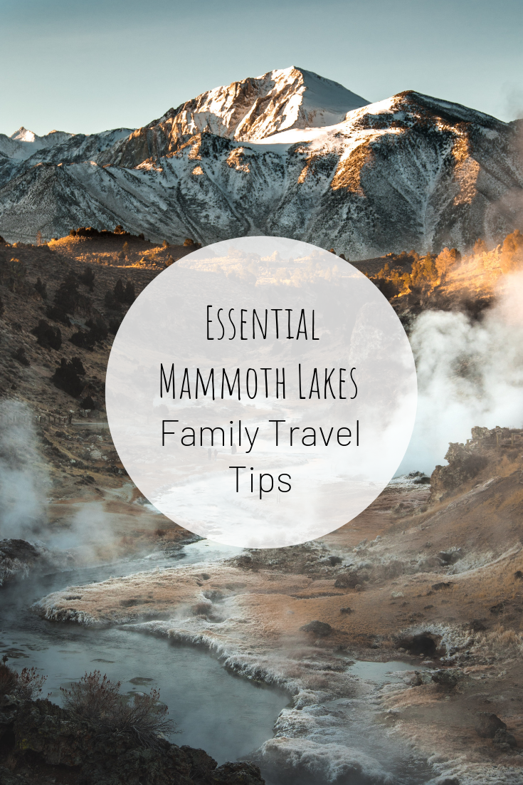 Pinterest image for Essential Mammoth Lakes Family Travel Tips .