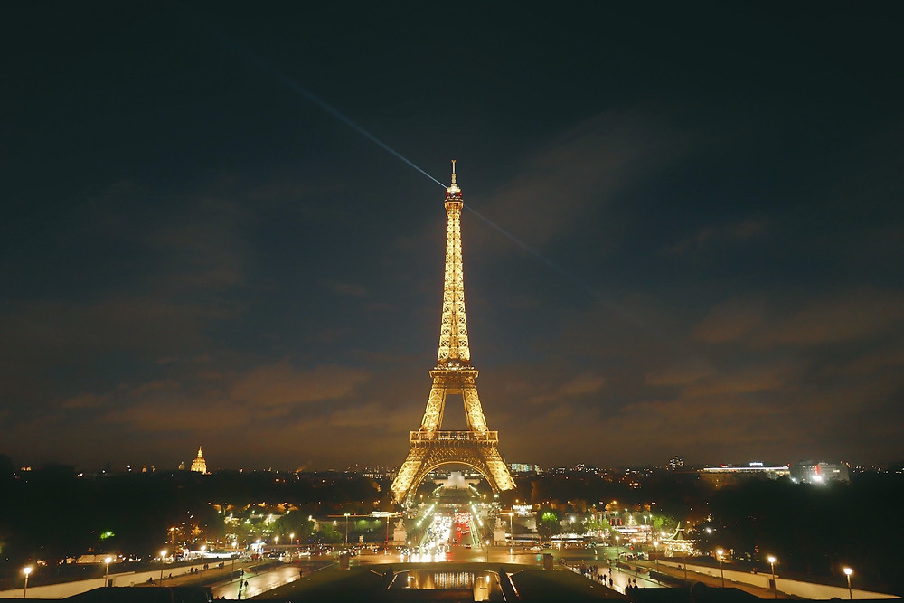 Eiffel Tower at night, a great stop for cultural travelers