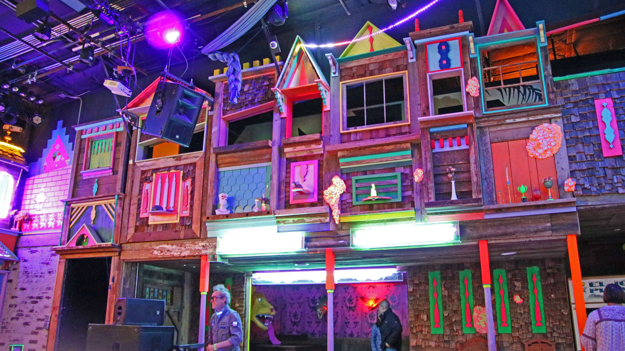 Interior of Meow Wolf in Santa Fe, New Mexico